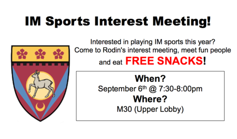 IM Sports Interest Meeting 9/6