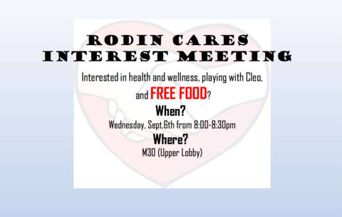 Rodin Cares Interest Meeting 9-6
